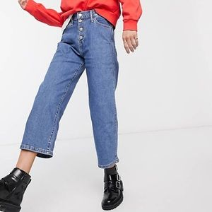 New Levi's mile high cropped wide leg jeans